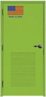 Green Fiberglass Door